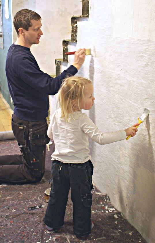 Målning av källaren